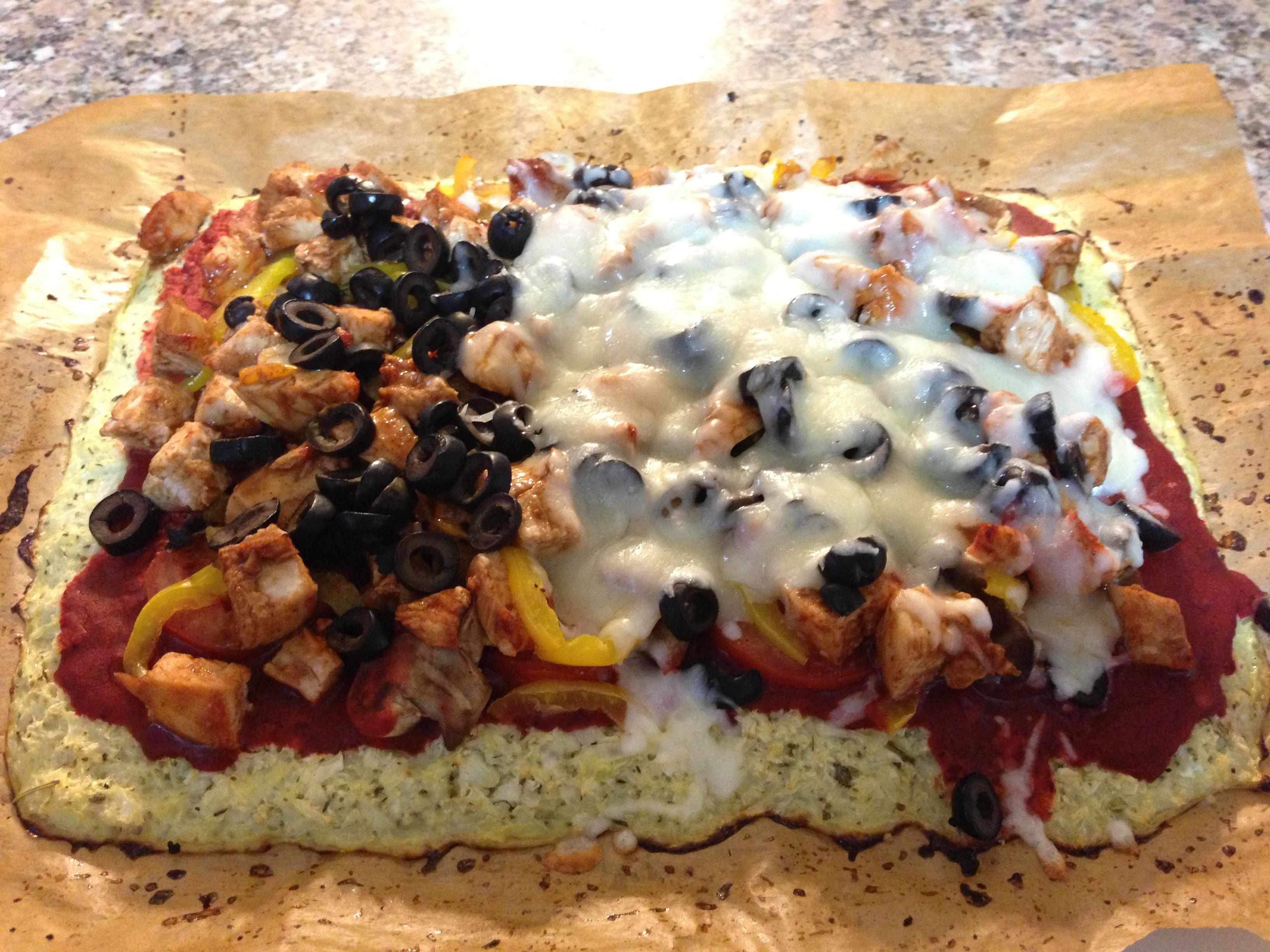 Weight Loss Plan Recipe - Cauliflower Pizza